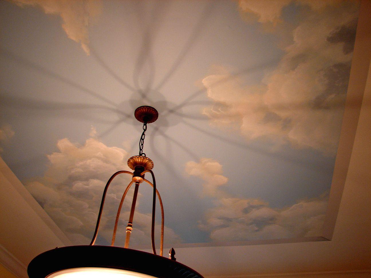 Sky Murals | Ceiling sky/cloud mural detail. | Art | Pinterest ...