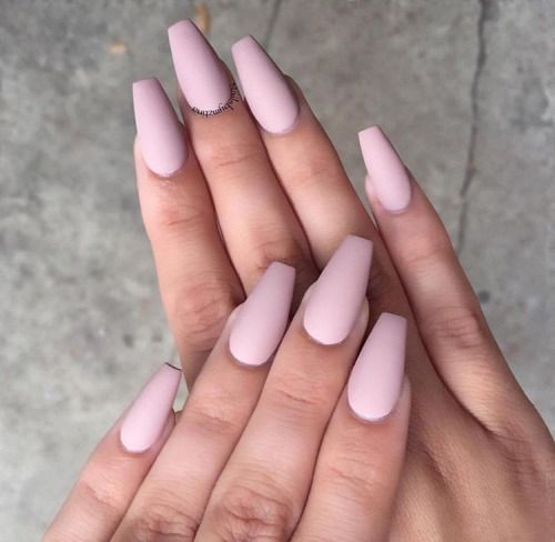 Matte Acrylic Nails Tumblr Nails In 2018 Pinterest Nails