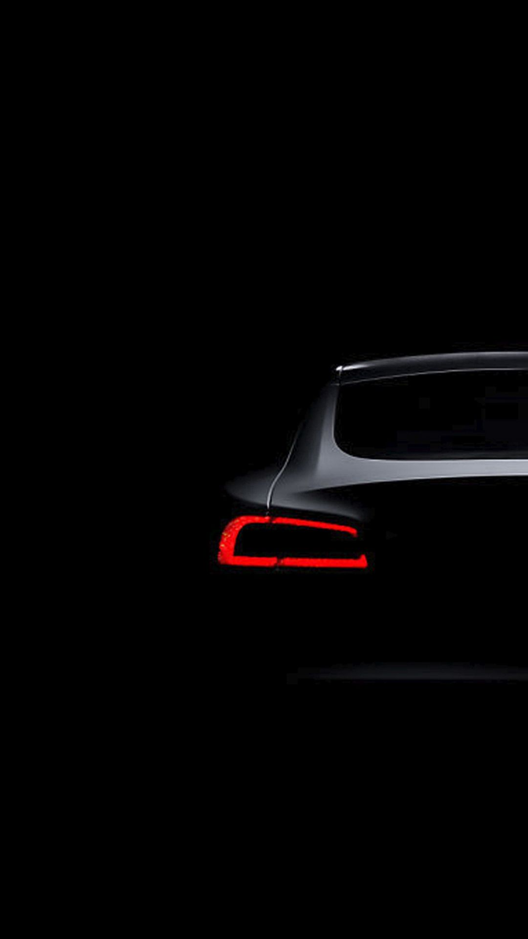 Tesla Model S Dark Brake Light #iPhone #6 #wallpaper