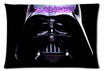 Free Shipping Star Wars Black Throw Custom Pillowcase 20x30 (inch) Two Sides Fashion Rectangle Decorative Covers