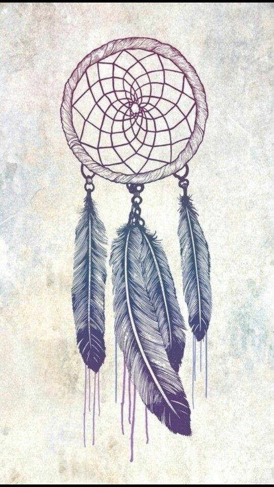 Border texture / feather realism Dream catcher drawing