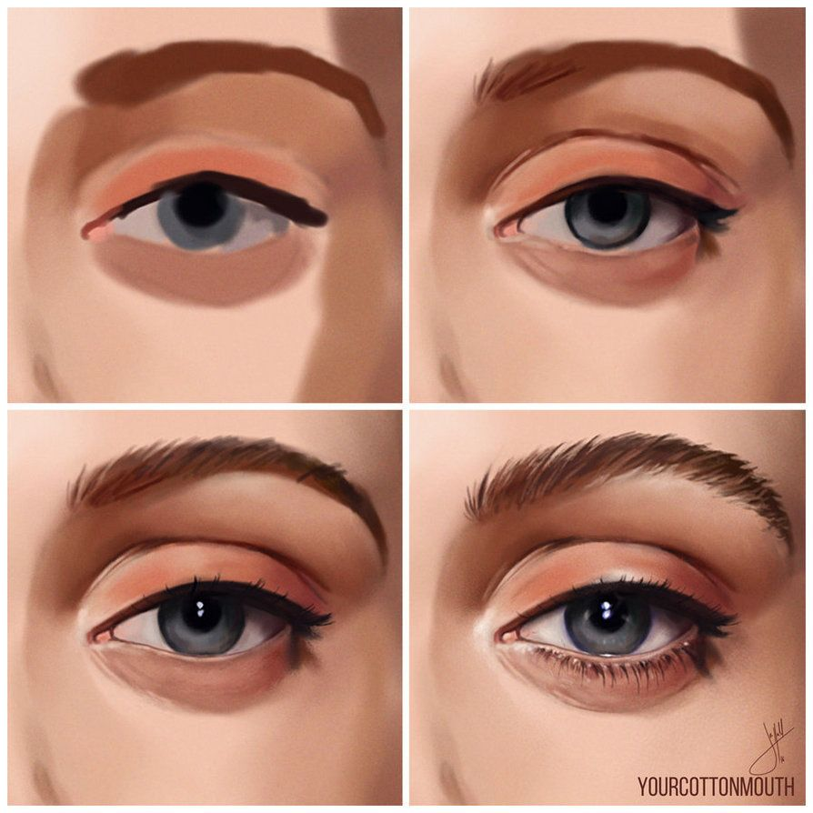 Simple Things Digital Painting: How I Paint Eyes By YourCottonmouth