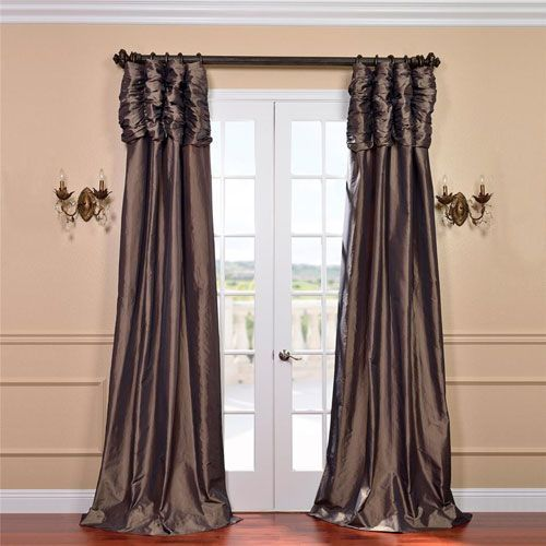 Ruched Mushroom 84 X 50 Inch Faux Silk Taffeta Curtain Single Panel Half Price Drapes Panel Curtains Silk Curtains