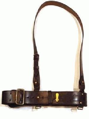 The Sam Browne belt was a thick belt around the waist