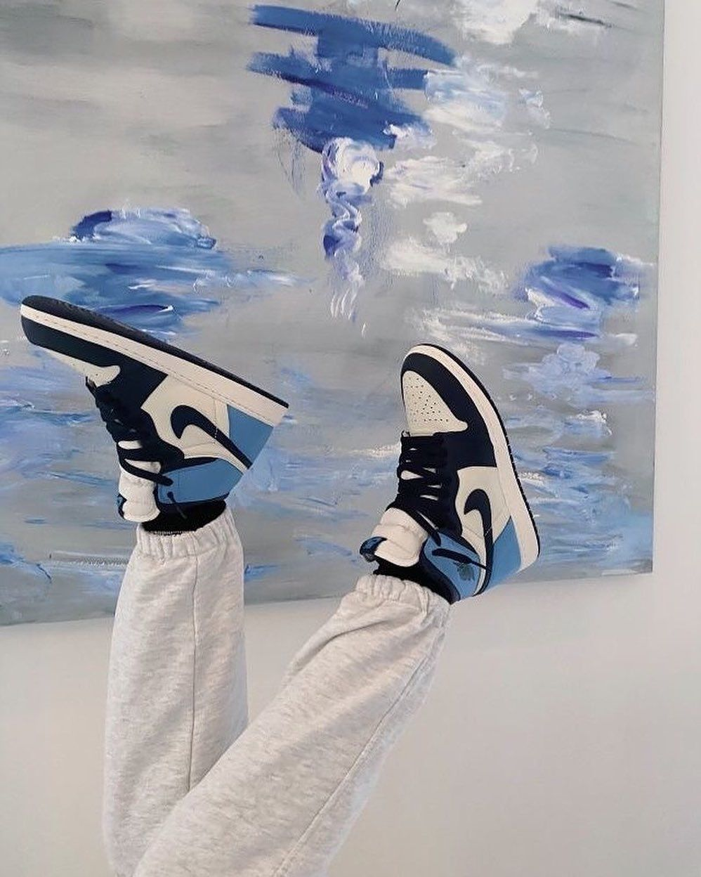 air jordan 1 mujer azul