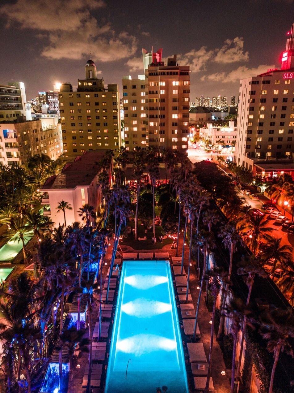 Delano South Beach At Night By