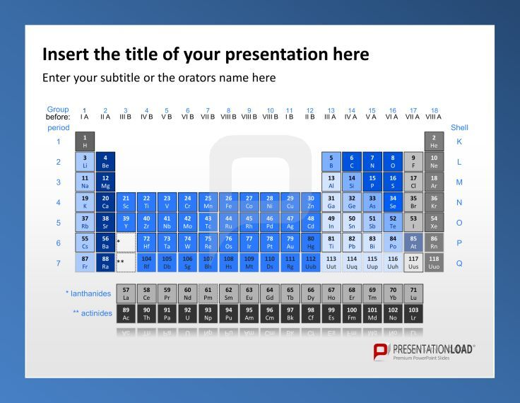 the periodic table is one of the most useful slides for a, Modern powerpoint