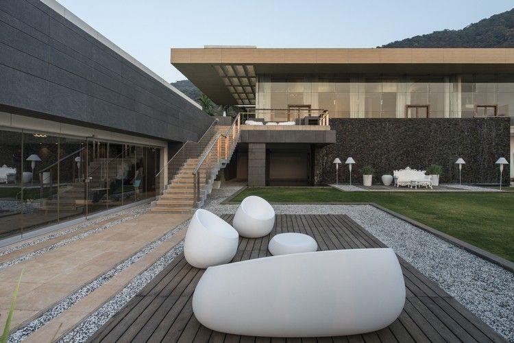 ferienhaus design modern garten möbel weiß Traumhäuser Pinterest