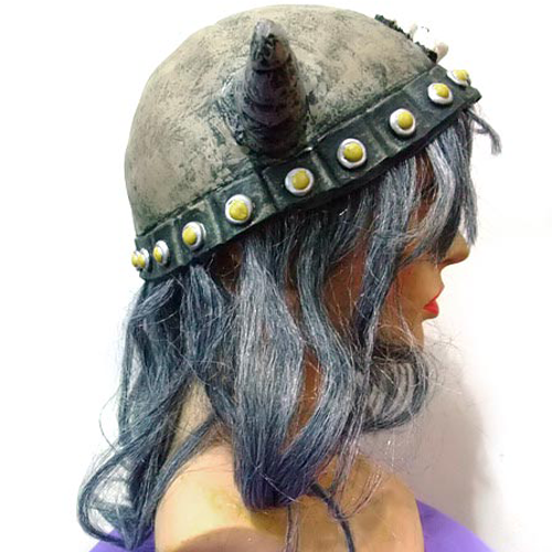 Halloween Hat Of The Viking Horn With Hair