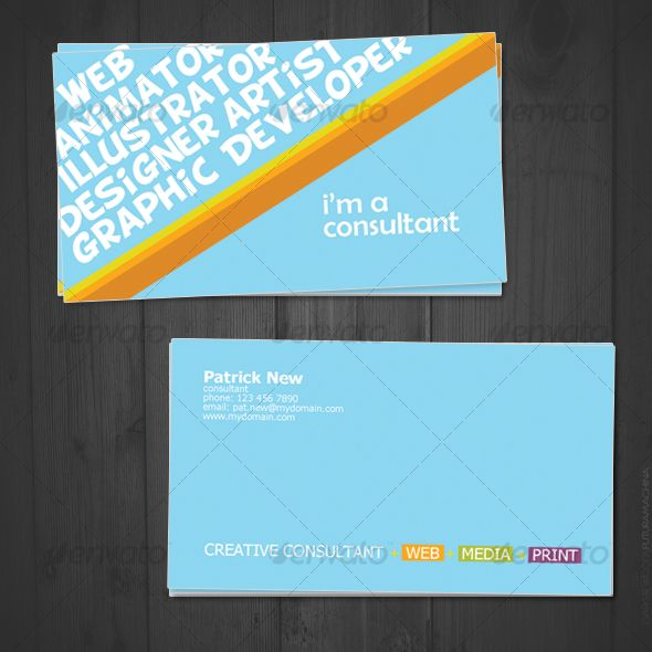 Creative consultant business cards creative consultant creative business cardsfonts reheart Images
