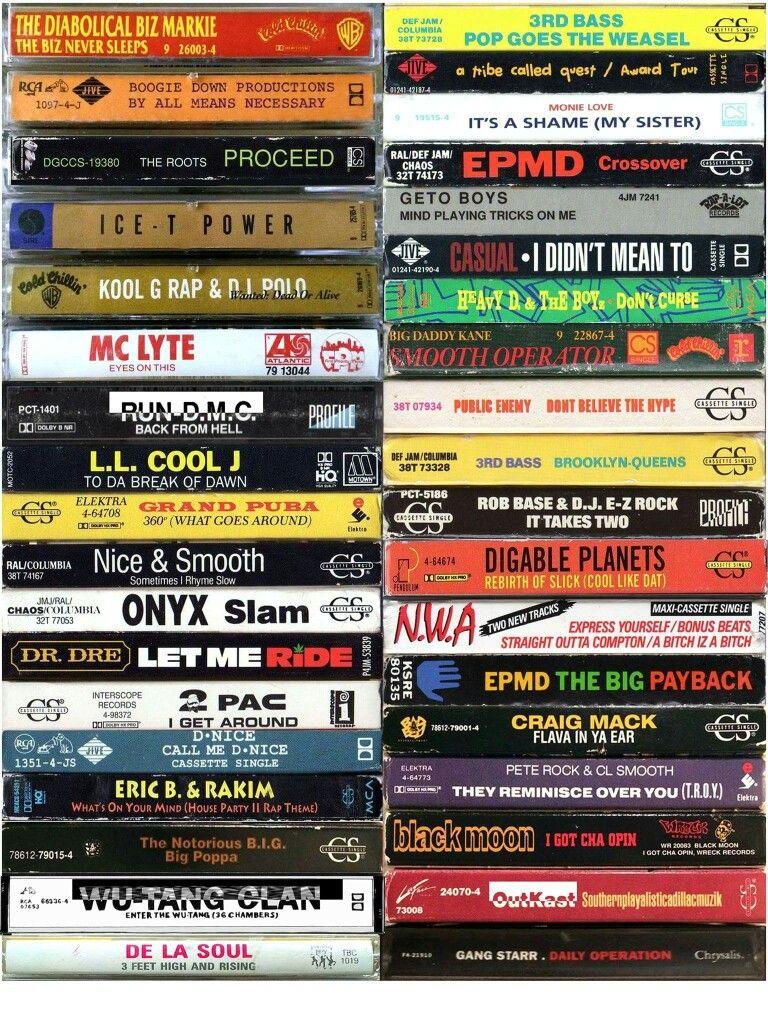 Golden era hip hop cassette tapes hip hop and rb yo