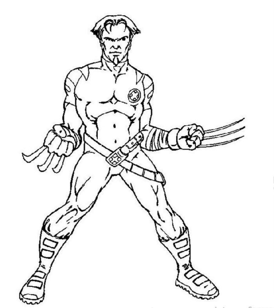 Free Printable X Men Coloring Pages For Kids  Minion coloring