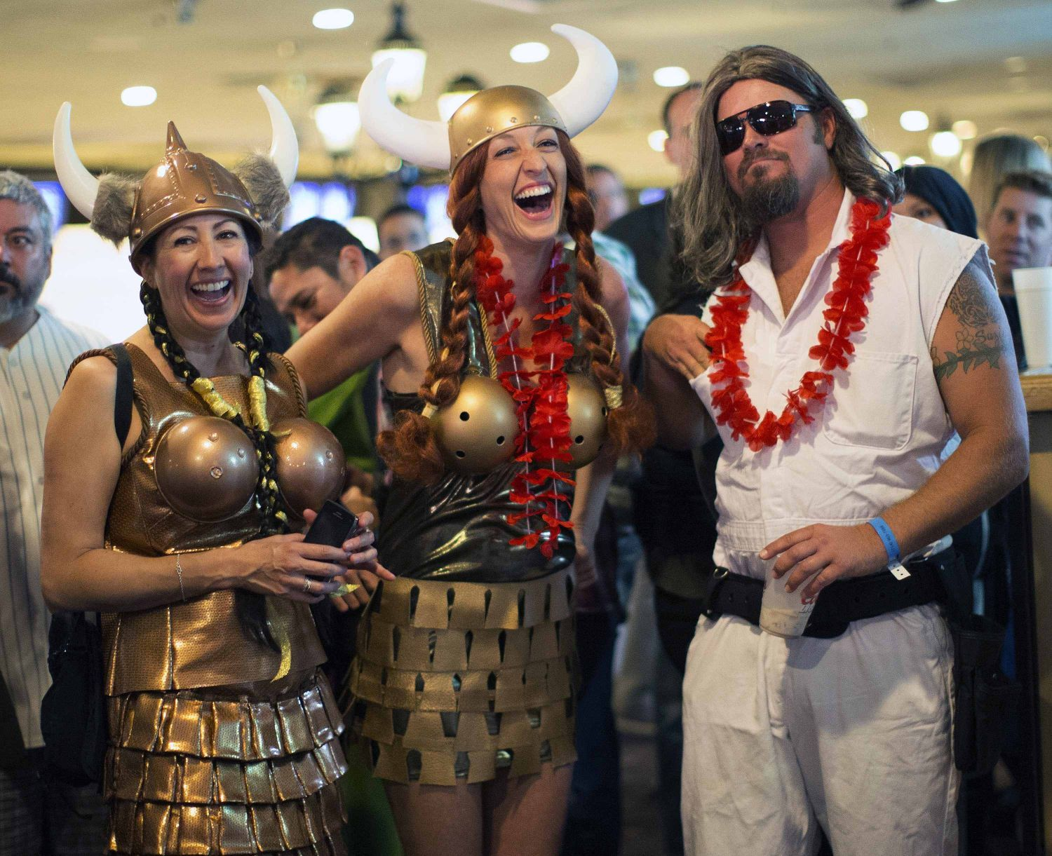 Enthusiasts wear costumes to resemble characters from the movie  The Big Lebowski  during the Lebowski Fest LA Bowling Party in Fountain Valley  sc 1 st  Pinterest & Enthusiasts wear costumes to resemble characters from the movie