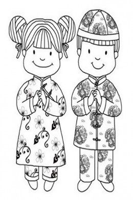 Chinese Images Kids Coloring Pages with Free Colouring