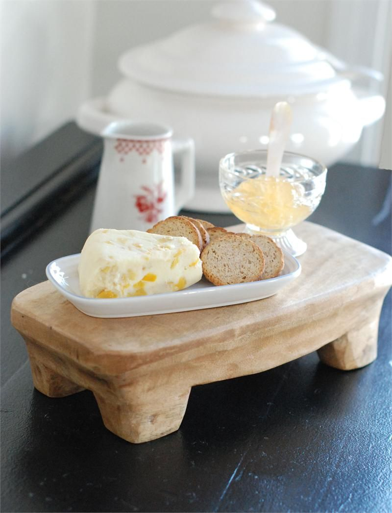Hand Carved Wood Pedestal Cheese Board