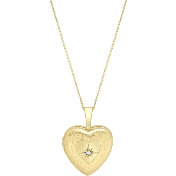 IBB 9ct Gold Heart Locket Pendant Necklace, Gold (130.190 CLP) ❤ liked on Polyvore featuring jewelry, necklaces, accessories, heart necklace, gold necklace pendant, gold necklaces, heart locket necklace and chain necklace