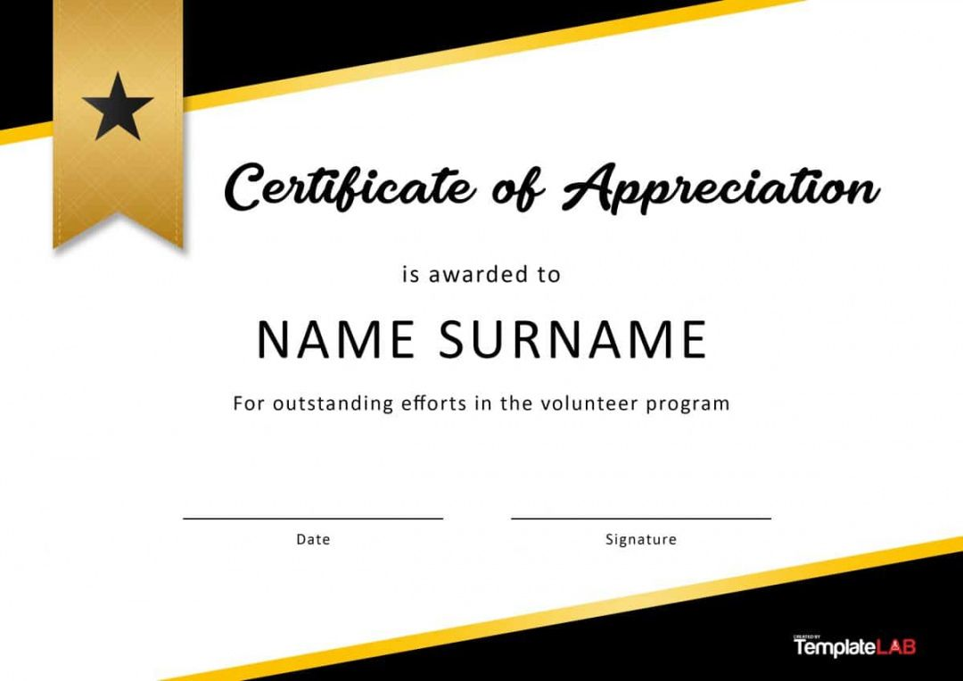 Browse Our Example Of Volunteer Appreciation Certificate Tem Certificate Of Appreciation Certificate Of Recognition Template Appreciation Certificate Templates