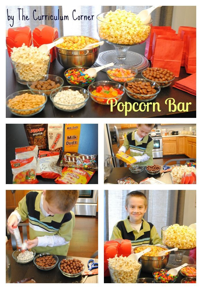 DIY Popcorn Bar! What a great party idea that your kids ...