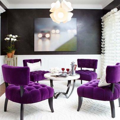 Last Detail Interior Design - Houzz; I want those stunning purple