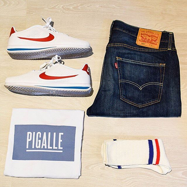 timeless design ac1b6 9c8a5 Outfit of the day  Tee-shirt pigalleparisofficial  Nike Cortez ootd  NikeCortez