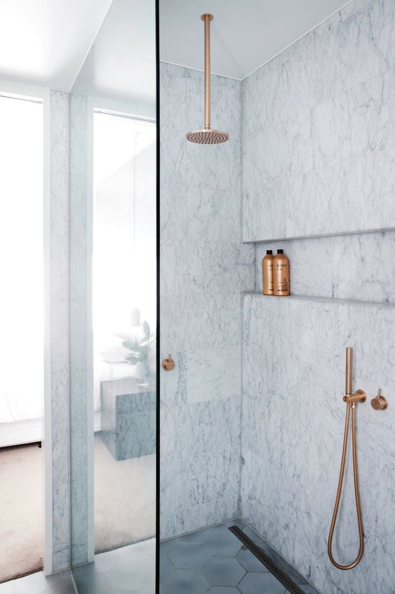Look We Love: Copper in the Bathroom | Metals, Bath and House
