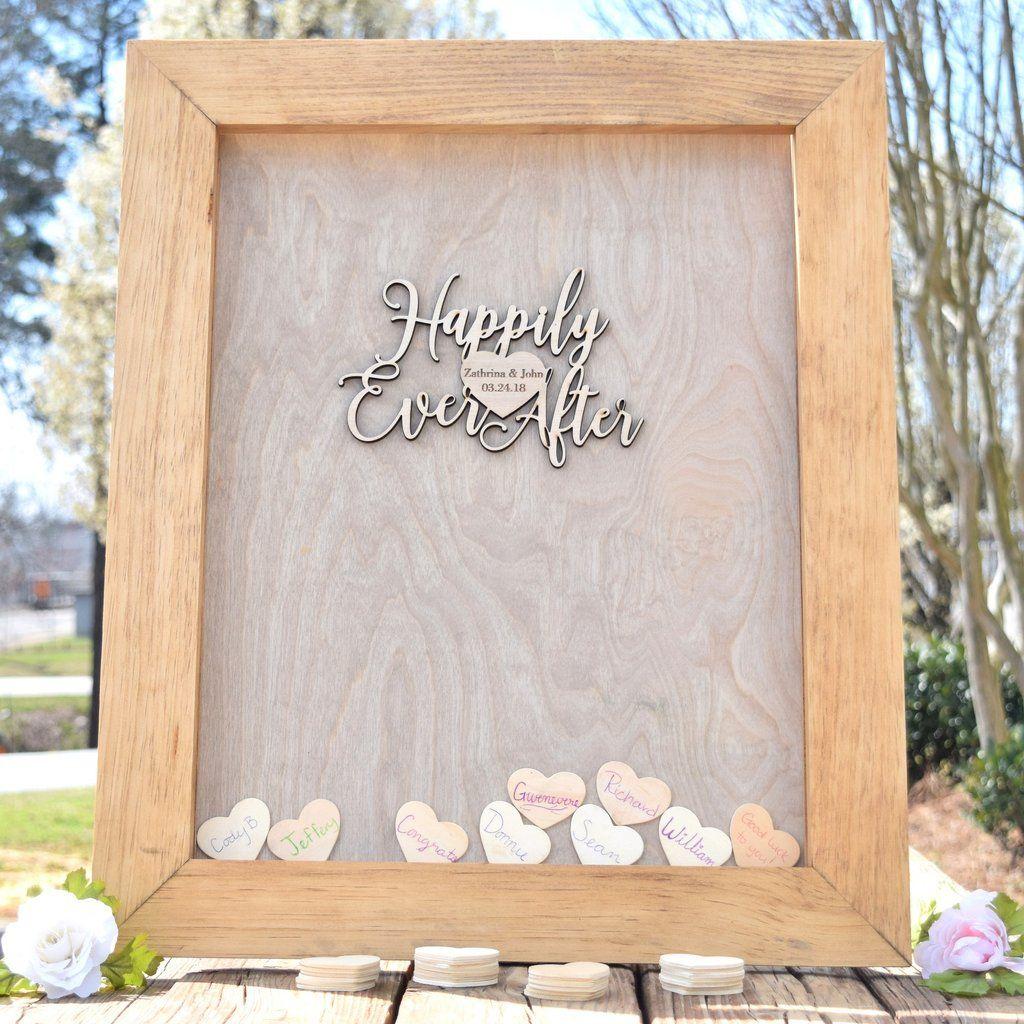 Heart Drop Wedding Guest Book Alternative Wedding guest