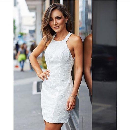3b6b171269df76 vestido de lese branco casual | vestido p costurar em 2019 ...