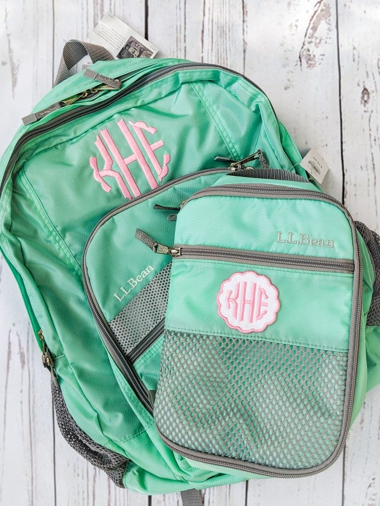 Scalloped Circle Monogrammed Backpack