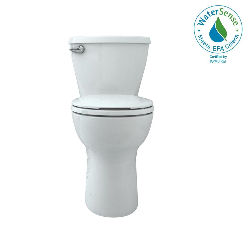American Standard Cadet Tall Height 10 In Rough In 2 Piece 1 28 Gpf Single Flush Round Toilet With Slow Close Seat In White 3376128st 020 The Home Depot In 2020 Toilets For Sale American