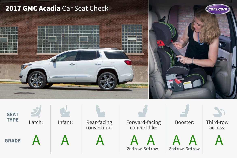 2017 gmc acadia three rows car seat check
