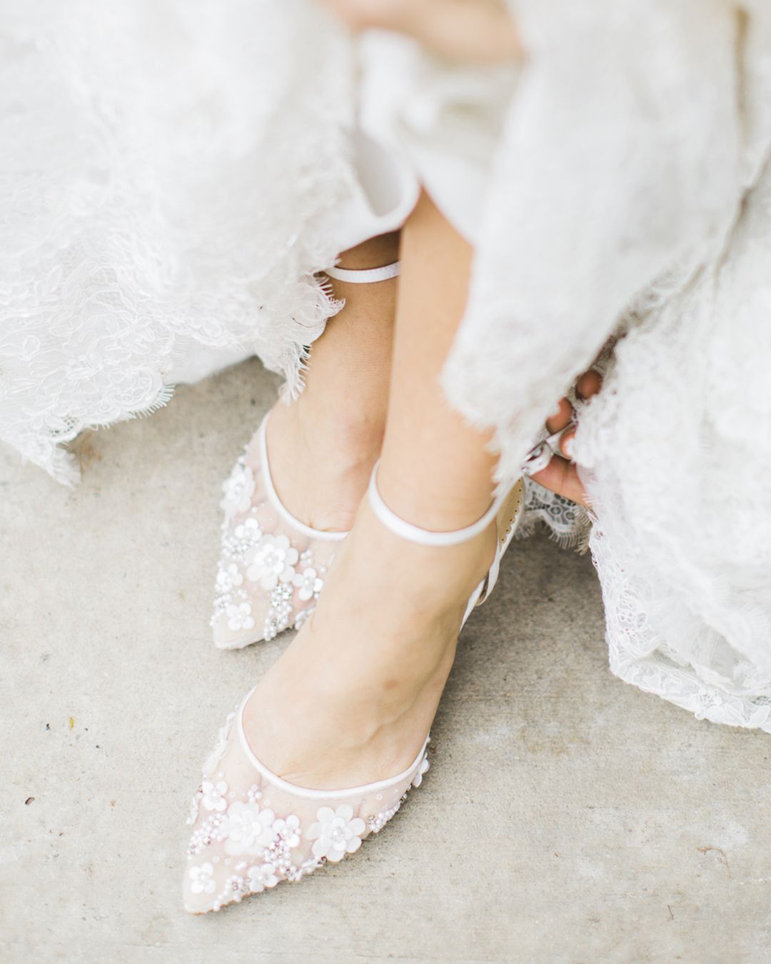 Bella Belle Beaded Wedding Shoes Low Heel In 2020 Wedding Shoes Low Heel Wedding Shoes Heels Ivory Wedding Shoes