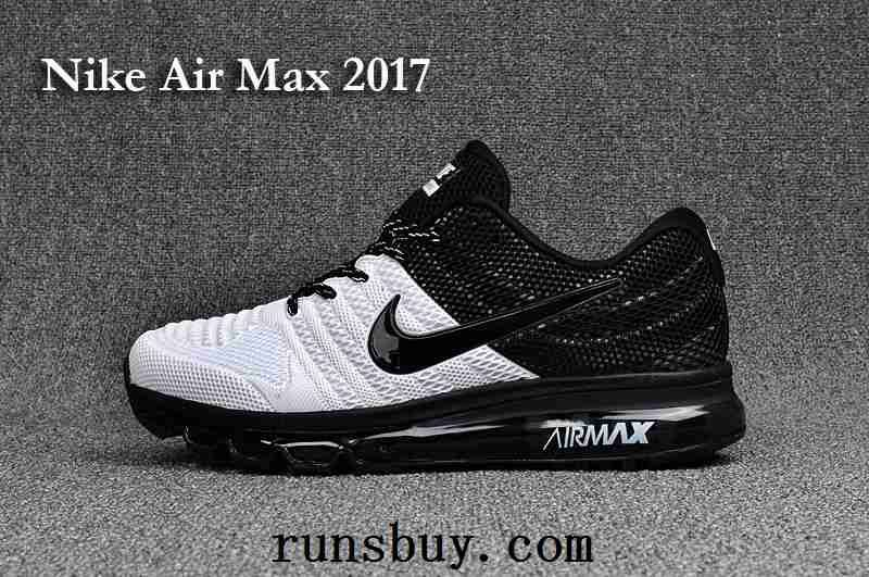 buy online 19d3f 3dab3 New Coming Nike Air Max 2017 3+ KPU Men Shoes Black White