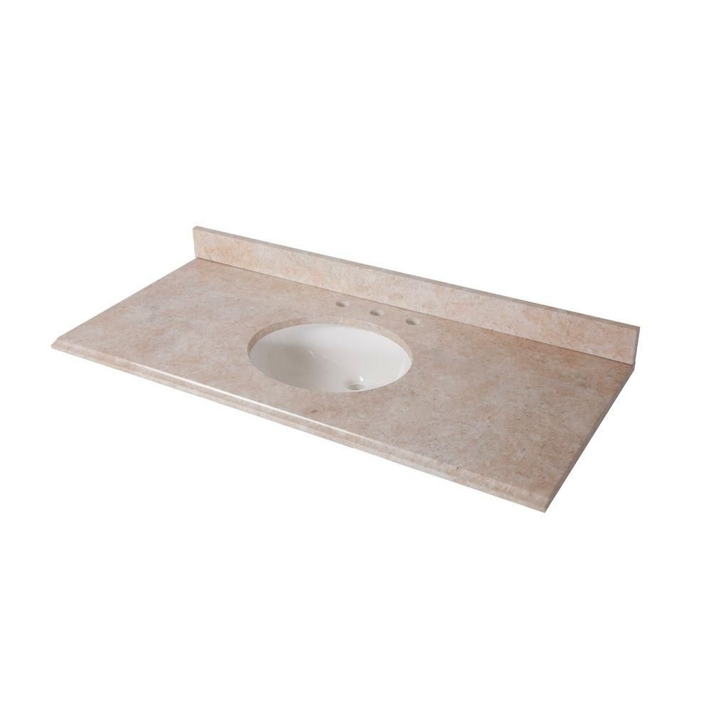 Pic On Home Decorators Collection in x in Stone Effects Vanity Top in Oasis