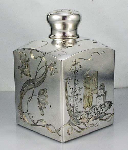 Russian antique silver tea caddy
