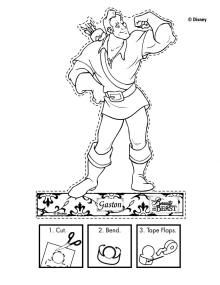Gaston Puppet Disneys Beauty and the Beast Printables Coloring