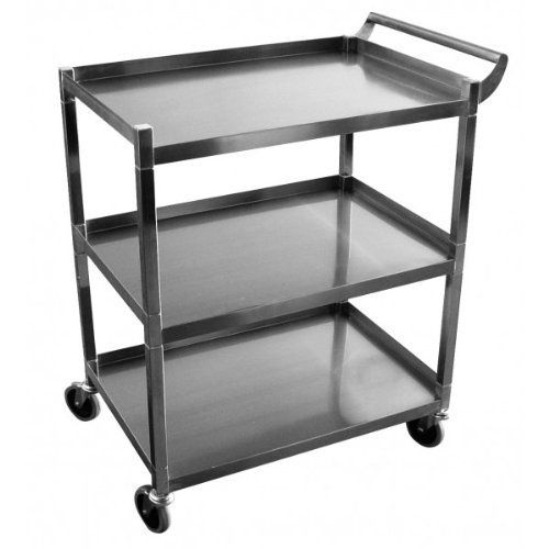 GSW Stainless Steel Solid 1 Inch Tubular Utility Cart Wit.