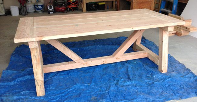 How To Build A Rustic And Bold Farm Table Rustic Farmhouse Table