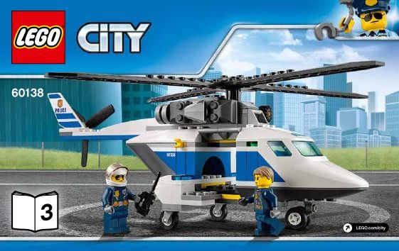 City High Speed Chase Lego 60138 Lego Instructions Pinterest
