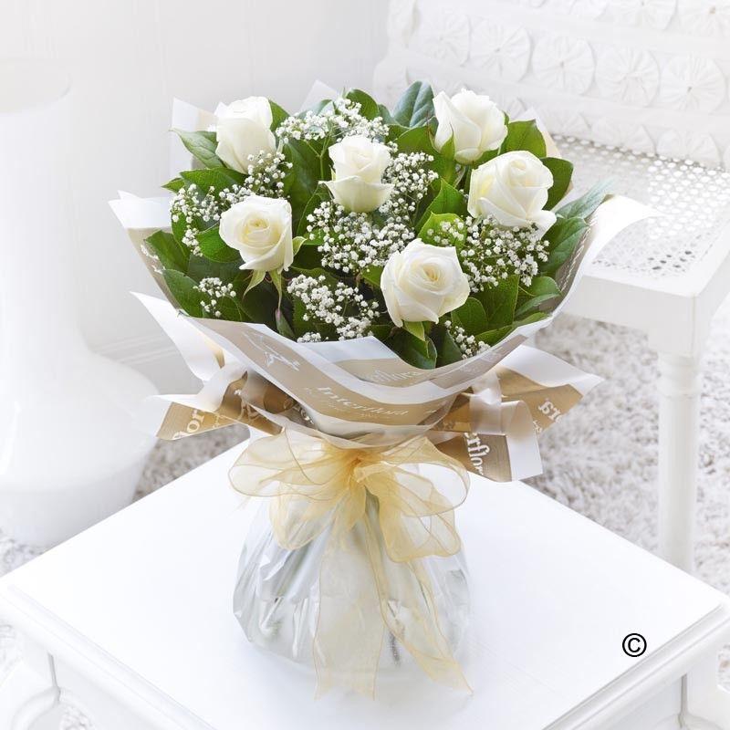 Six WhiteRoses Bouquet