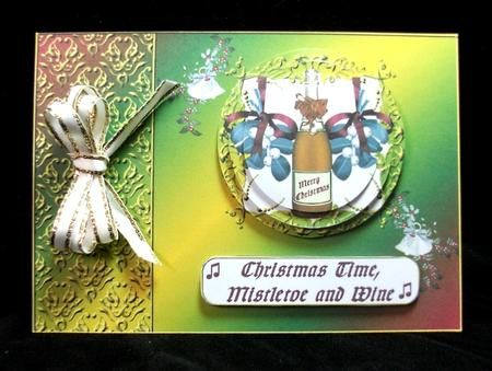 Card Gallery - Mistletoe and Wine, Christmas Colours
