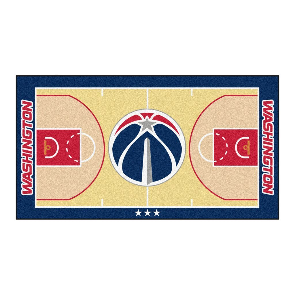 Washington Wizards Basketball Court Runner Rug