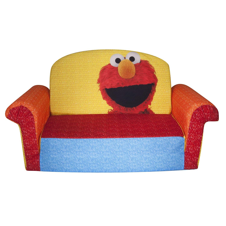 Children's 2 in 1 Flip Open Foam Sofa, Sesame Street's ...