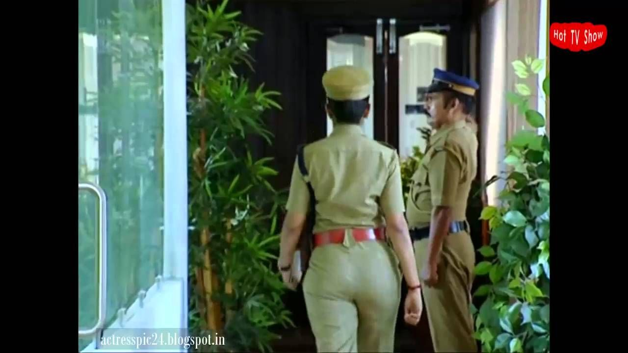 police Busty uniform in babe