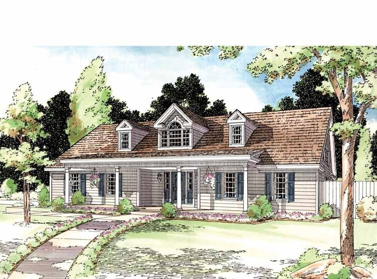 Eplans Country House Plan Country Symmetry 1578 Square Feet And 3 Bedrooms From Eplans