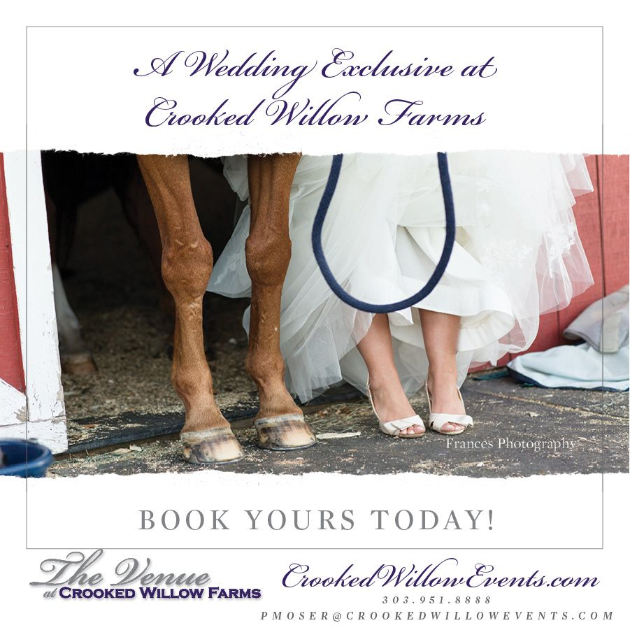 A Wedding Exclusive at Crooked Willow Farms! Book Yours Today! #CrookedWillowFarms #ColoradoWeddings #LarkspurWeddings #Bride #Groom #COWeddings #TheVenueAtCrookedWillowFarms #Barn #RedBarn #BarnWeddings #CrookedWillowEvents #Larkspur