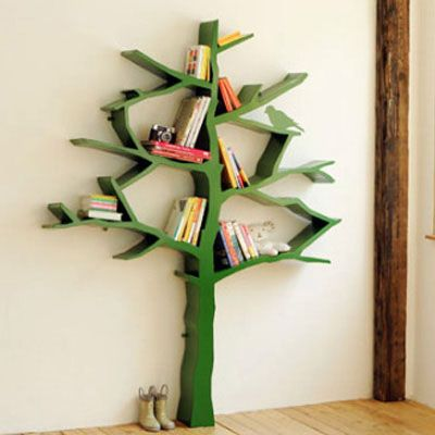 This Is More My Style For A Bookshelf Tree Diy Idea Kids Rooms