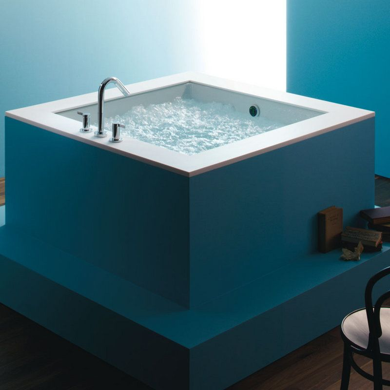 kohler k1968 drop in cube soaking bath tub from the underscore collection - Kohler Bathtubs