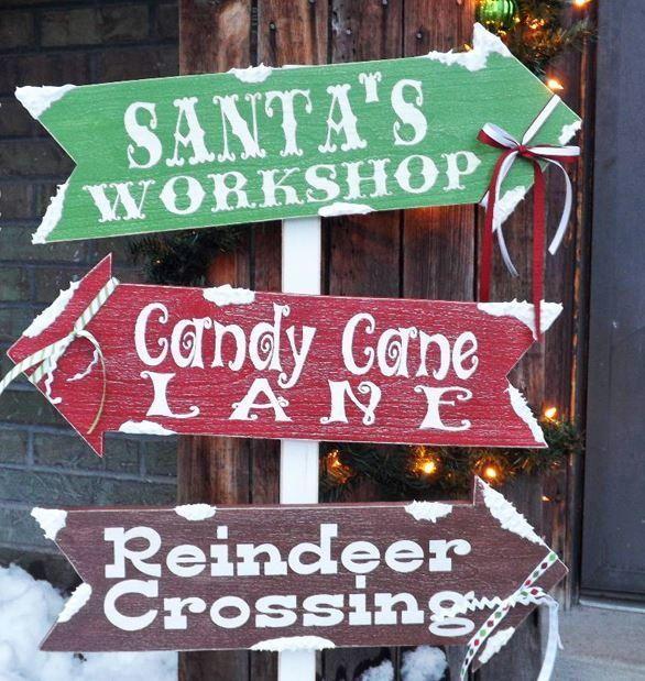 Santas Village DIY Outdoor Sign  Outdoor signs Outdoor