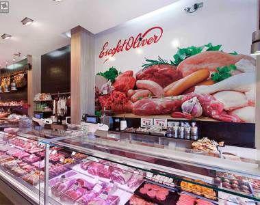 Carnicer a butcher counter carnicer as modernas for Decoracion de supermercados