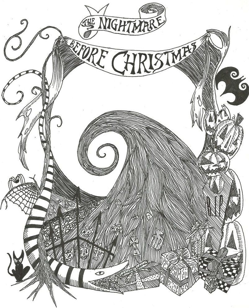 The Nightmare Before Christmas Zero Coloring Pages The nightmare ...